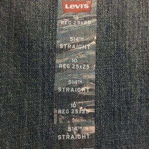 NWT Levi's 514 jeans. Boys Sz 10